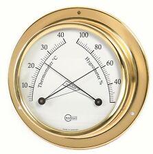 Thermo Hygrometer Analog BARIGO Tempo S Comfortmeter brass