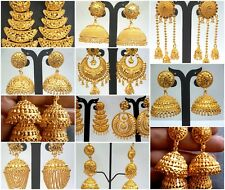 South Indian 22K Gold Plated Wedding Variations Different Jhumka Earrings Set