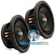 "(2) SUNDOWN AUDIO SD-3 10 D4 10"" 500W RMS DUAL 4-OHM SHALLOW BASS SUBWOOFERS NEW"