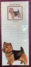 Norwich Terrier Notepad and Wood Magnet