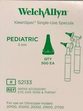 WELCH ALLYN  Kleenspec Pediatric Specula 3mm Box of 500 52133 ** FREE SHIPPING**