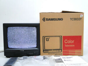 """Old SAMSUNG 13"""" color TV TC3833T (1990. 7) Made in KOREA"""