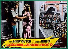T29 FOTOBUSTA LA LEGGENDA DELL'ARCIERE DI FUOCO BURT LANCASTER VIRGINIA MAYO 5