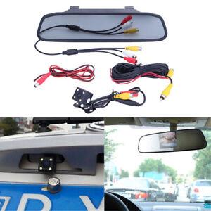 """Car Rear View Night Vision 4LED Camera 4.3"""" Foldable Display Monitor"""