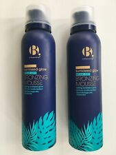 2X B. Superdrug SUNKISSED GLOW Wear Off Bronzing Mousse Face & Body 150ml