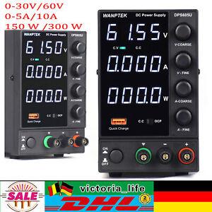 Schaltnetzteil 4-stellige 0-30V/60V 0-5A/10A DC Labor Netzteil Einstellbare USB
