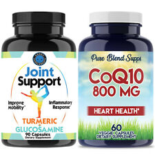 Joint Support Health + CoQ10 (800MG) 2PK Coenzyme Anti-Aging Cardiovascular