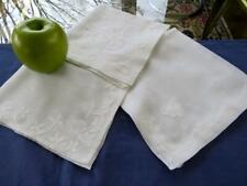 Lot 3 Vintage White Batiste Handkerchiefs Exquisite Madeira Hemstitch Applique