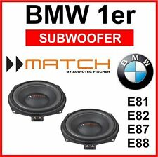 Match ms8b-bmw/BMW sotto sedile Subwoofer Bass BMW 1er e81 e82 e87 e88/match sub