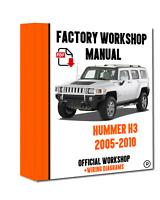 >> OFFICIAL WORKSHOP Manual Service Repair Hummer H3 2005 - 2010