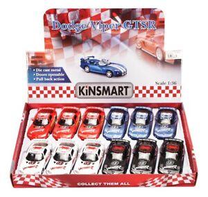 DODGE VIPER RACE CAR #03 DIECAST CAR BOX OF 12 1/36 SCALE DIECAST CARS, ASSORTED