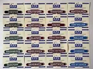 Selection of British Railway Totem fridge magnets