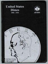 Uni-Safe United States US Dimes 10 Cents Coin Collection Album Folder 1896-1945