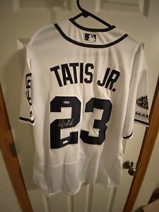 Fernando Tatis Jr Authentic Autographed Rookie Year Majestic Sz 48 Padres Jersey