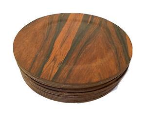 10 Vtg Mid Century Danish Modern Rosewood Plate Dansk Denmark Quistgaard Sweden