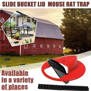 Flip N Slide Bucket Lid Mouse Trap Automatic Mouse Trap 5Gal Buckets Compatible