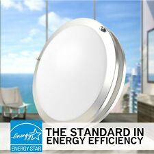 "Luxrite 10"" LED Chrome Ceiling Light, 14W-3000K-1000Lm, Energy Star & UL-Listed!"