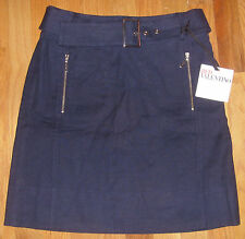 NWT RED VALENTINO Ladies Skirt Navy With Belt Size EU 40 US 2