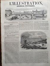 L'ILLUSTRATION 1845 N 148 LES INONDATIONS DE LA PLAINE D' IVRY-SUR-SEINE