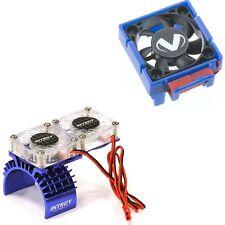 Traxxas Slash 4x4 3340 Cooling Fan + Integy  Motor HeatSink Dual Twin Fan T8534B