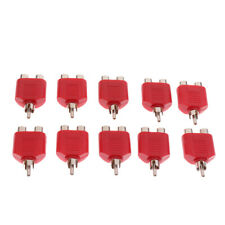 10pcs 1/One Male To Two/2 Female RCA AV Y Splitter Audio Cable Adapter