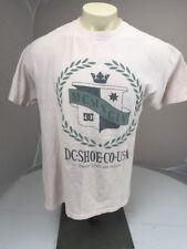 Authentic DC Shoe Co. MCMXCIV Skateboarding Skater SS crewneck tshirt Lg beige
