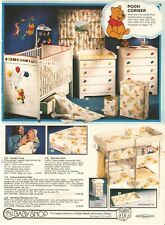 VINTAGE 1978 WINNIE THE POOH BEDROOM FURNITURE DECOR CATALOG PRINTS ADS