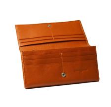 SALE was $69 - Bianca Clip Purse - Terracotta Pebble Womans Bag- Genuine Leather