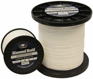 Momoi Diamond Braid Generation III Hollow Core Line - White - 200lb - 600 yards