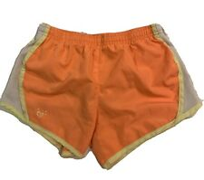 Justice Girls 12 Athletic Play Shorts Orange White Yellow With Lining