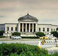 Vtg Kodachrome Color 35mm Slide 1950s Aquarium Chicago Yellow Cab Taxi Cars