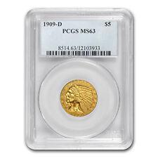 $5 Indian Gold Half Eagle Coin - Random Year - MS-63 PCGS - SKU #12921