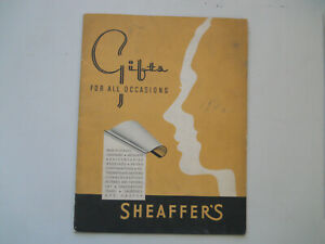Sheaffer's Vintage 1940 Catalog--24-pages+plus 3 extra sheets