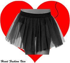 Plus Size Black Tutu skirt Dark Fancy Costume dance party Halloween Christmas