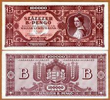 Hungary, 100,000 B.-pengo, 1946, P-133 aUNC