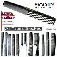 Matador Hairdressing Combs Professional Salon Barbers ALL TYPES Stocked