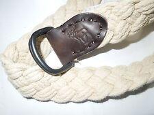 ABERCROMBIE & Fitch khaki braided cotton & Leather BELT  sz 30