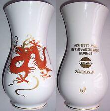 Große Porzellan Vase VEB Keramische Werke Neuhaus Isolator Zündkerzen Drache DDR