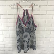 Liberty of London for Target Tank Top Sheer Floral Lace Racerback Size Large
