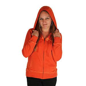 Life is Good Spicy Orange Softwash Zippity Full Zip Ladies Hoodie Sweatshirt NWT