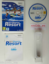 Wii SPORTS RESORT (12 Games!) +GENUINE NINTENDO MOTION PLUS DONGLE +RUBBER=VGC✔
