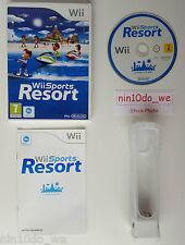 Wii SPORTS RESORT (12 Giochi +ORIGINALE NINTENDO MOTION PLUS DONGLE +GOMMA=VGC✔