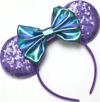Potion Purple Minnie Mouse Ears, Purple Minnie Ear, Disney Mickey Mouse HANDMADE
