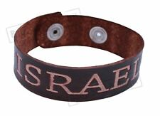 Israel Leather Bracelet judaica powerful protection Wristband holy karma Gift