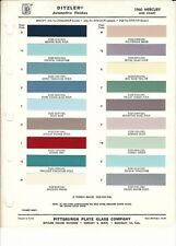 1959 AND 1960 MERCURY PAINT CHIPS