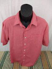 Austin Clothing Co ~ Mens Plaid Red Shirt ~ Short Sleeve - Size Large