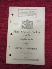 1939 Field Service Pocket Book No.10 Medical Services WW2 fc2a
