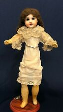 Antique French Papier-Mache Doll with Original Wig and Chemise