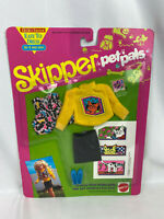 Vintage 1991 Mattel Barbie Skipper Pet Pals Fashions Cat Shirt, Skirt, Vest New