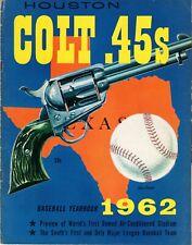 1962 Houston Colt 45's Astros Inaugural Season Yearbook